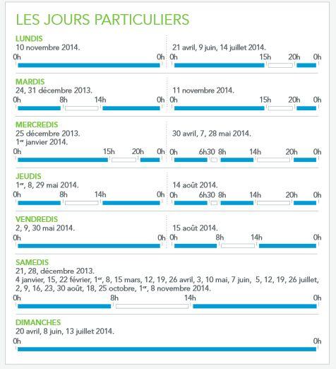 Jour particulier Calendrier Voyageur 2014