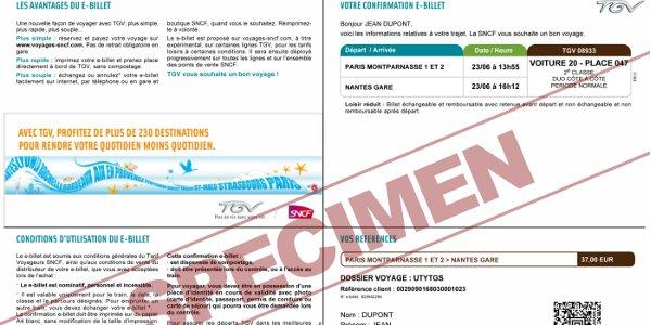 e-billet SNCF