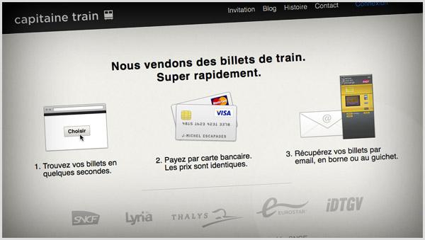 Réservation express de billets de train