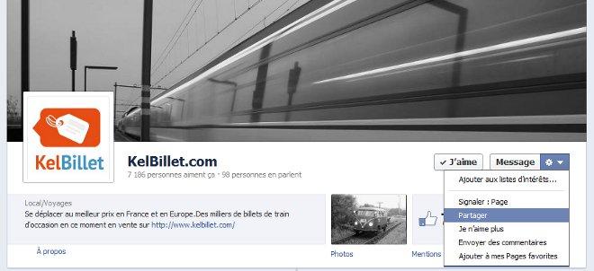 Partagez la page Facebook de KelBillet.com avec vos amis