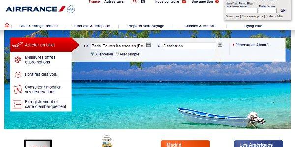 Nouveau Site Internet Pour Air France Kelbillet