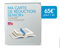 Nouvelle carte de réduction SNCF: carte Senior +