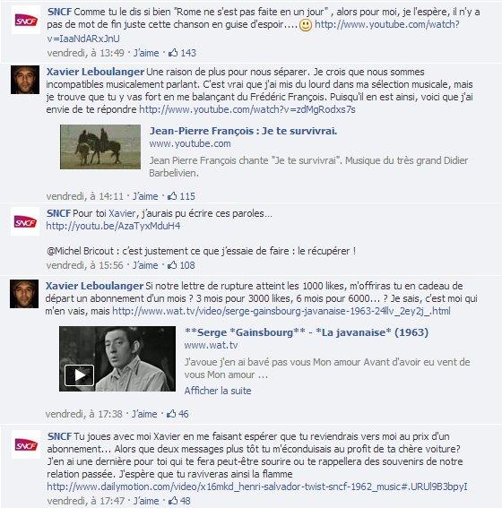 Battle musicale entre la SNCF et Xavier Leboulanger