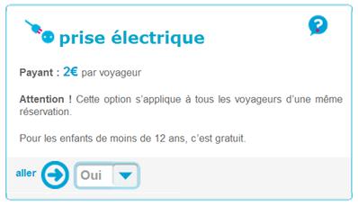 Option Prise électrique Ouigo