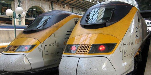 Train Eurostar entre Londres et le Sud de la France