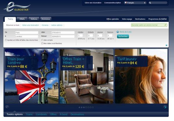 Nouveau site Eurostar