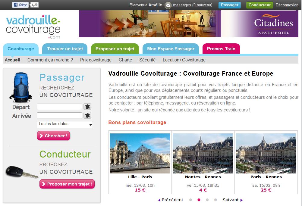 Présentation Vadrouille Covoiturage