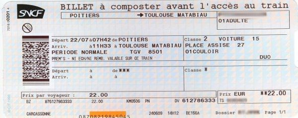 Billet week end sncf