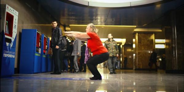Moscou : le ticket de métro offert contre... 30 fléxions