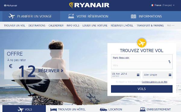 Ryanair : un nouveau site pour faciliter la réservation de billets d'avion