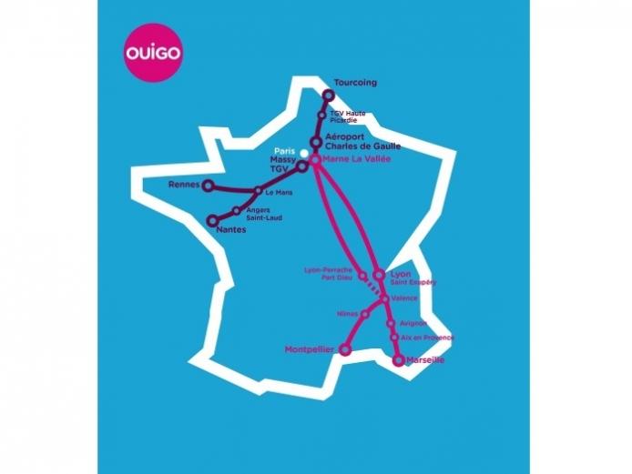 Nouvelles destinations OUIGO accessibles dès 2016
