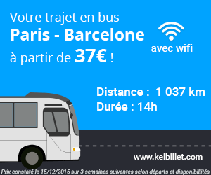 Paris Barcelone en bus