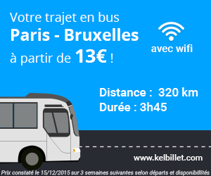 Paris Bruxelles en bus
